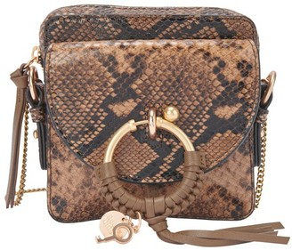 See by Chloe Small Joan bag embossed python