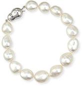 Assael 18K White Gold South Sea Baroque Pearl Bracelet