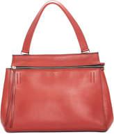 Celine Coral Calfskin Leather Medium Structured Satchel
