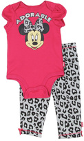 Disney Fuschsia Minnie Mouse 'Adorable' Bodysuit & Leggings