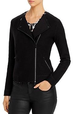 Karl Lagerfeld Paris Wool Moto Jacket