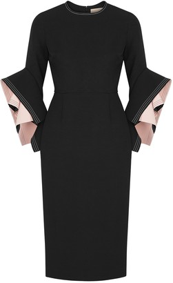 Roksanda Ronda Black Origami-sleeve Dress