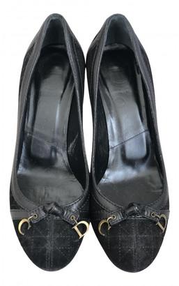 Christian Dior Black Suede Heels