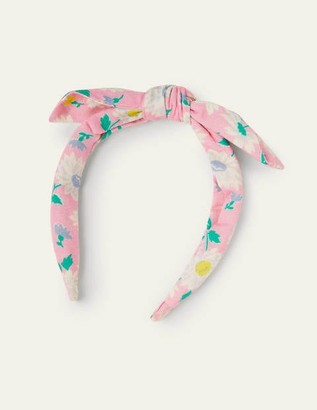 Boden Floral Bow Headband - Pink Vintage Daisy