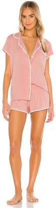 Eberjey Frida Whip Stitch Short PJ Set