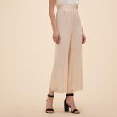 Maje Wide-leg satin jacquard trousers