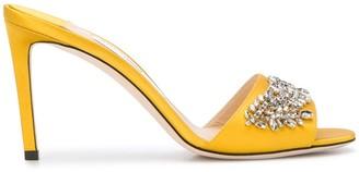 Jimmy Choo Stacey 85mm crystal-embellished sandals