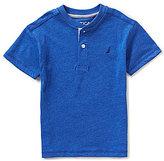 Nautica Little Boys 4-7 Solid Short-Sleeve Henley Tee
