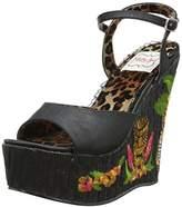 Bettie Page Women's BP475-Keke Wedge Sandal
