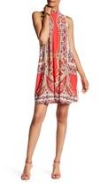 Tiana B Ity Mock Neck Printed Dress