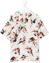 Marni ruffle trim printed blouse