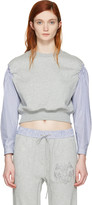3.1 Phillip Lim Grey Poplin Sleeves Pullover