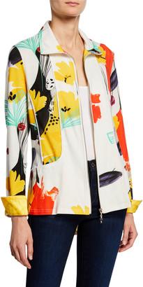 Berek Petite Color of Sunshine Knit Zip Jacket