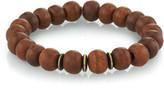 Mr. Lowe Men's Wood Bead Bracelet w/ Spacers, Size M