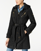 MICHAEL Michael Kors Petite Quilted Belted Coat