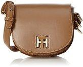 Tommy Hilfiger Th Twist Leather Mini Crossover, Women's Cross-Body Bag, Braun (Tan), 6 x 15 17 cm (wxhxd)