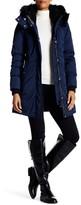 NOIZE Krista Removable Faux Fur Trim Hooded Coat