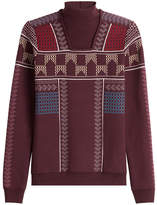 Peter Pilotto Patterned Knit Mock Neck Pullover