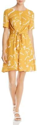 Vero Moda Ilona Abstract Floral-Print Tie-Front Dress
