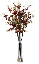 Bed Bath & Beyond Nearly Natural Cherry Blossoms w/ Vase Silk Flower Arrangement in Red