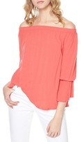 Sanctuary Petite Women's Off The Shoulder Blouse