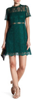 Minuet Mock Neck Lace Dress
