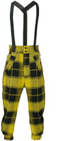 Lost & Found Ria Dunn plaid trousers with suspenders