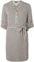Dorothy Perkins Black Jacquard Ponte Shirt Dress
