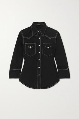 Denimist Shrunken Cowboy Cotton-twill Shirt - Black