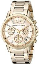 Armani Exchange Women's AX4327 Gold Watch