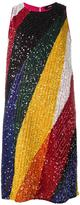 Diesel striped dress - women - Polyester/Rayon/plastic/glass - XS