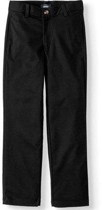 Arrow Aroflex Super Soft Stretch Twill Flat Front Pant (Husky Boys)