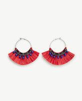 Ann Taylor Raffia Hoop Earrings