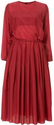 Sara Lanzi pleated detail dress