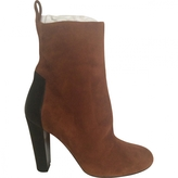 Hermes Camel Leather Ankle boots