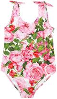 Dolce & Gabbana floral print swimsuit - kids - Nylon/Polyamide/Spandex/Elastane - 4 yrs
