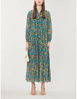 Diane von Furstenberg Floral-print silk-cotton blend maxi dress