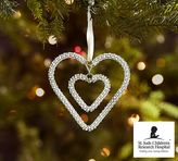 Pottery Barn St. Jude Thanks And Giving® Double Hanging Heart Ornament