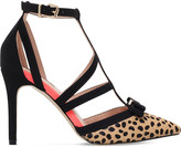 Miss KG Chyna leopard-print court shoes