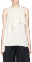 Helmut Lang Ruffle crepe sleeveless top