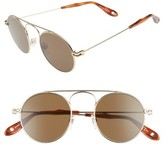 Givenchy Women's 48Mm Round Sunglasses - Gold