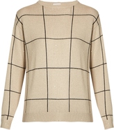 Brunello Cucinelli Checked cashmere and silk-blend sweater