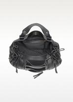 Gerard Darel Zipped 24 Hours Saint Germain Black Leather Satchel