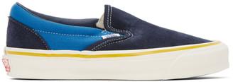 Vans Blue and Navy OG Classic Slip-On LX Sneakers