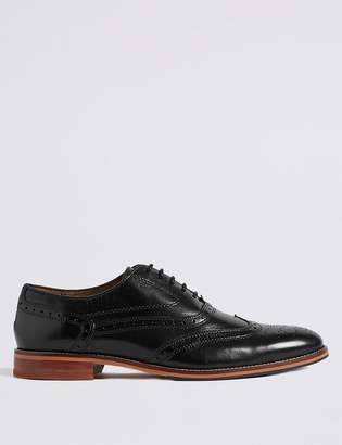 M&S CollectionMarks and Spencer Big & Tall Leather Lace-up Brogue Shoes