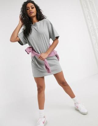 Nike mini swoosh oversized t-shirt dress in grey