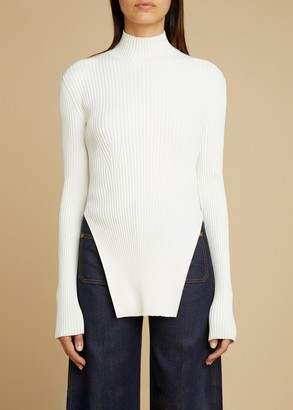 KHAITE The Jacques Sweater in Cream