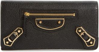 Balenciaga Metallic Edge Leather Wallet