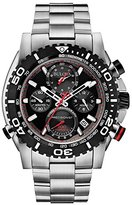 Bulova Precisionist Men's UHF Watch with Black Dial Analogue Display and Silver Stainless Steel Bracelet 98B212