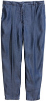 H&M Lyocell Pants - Dark denim blue - Ladies
